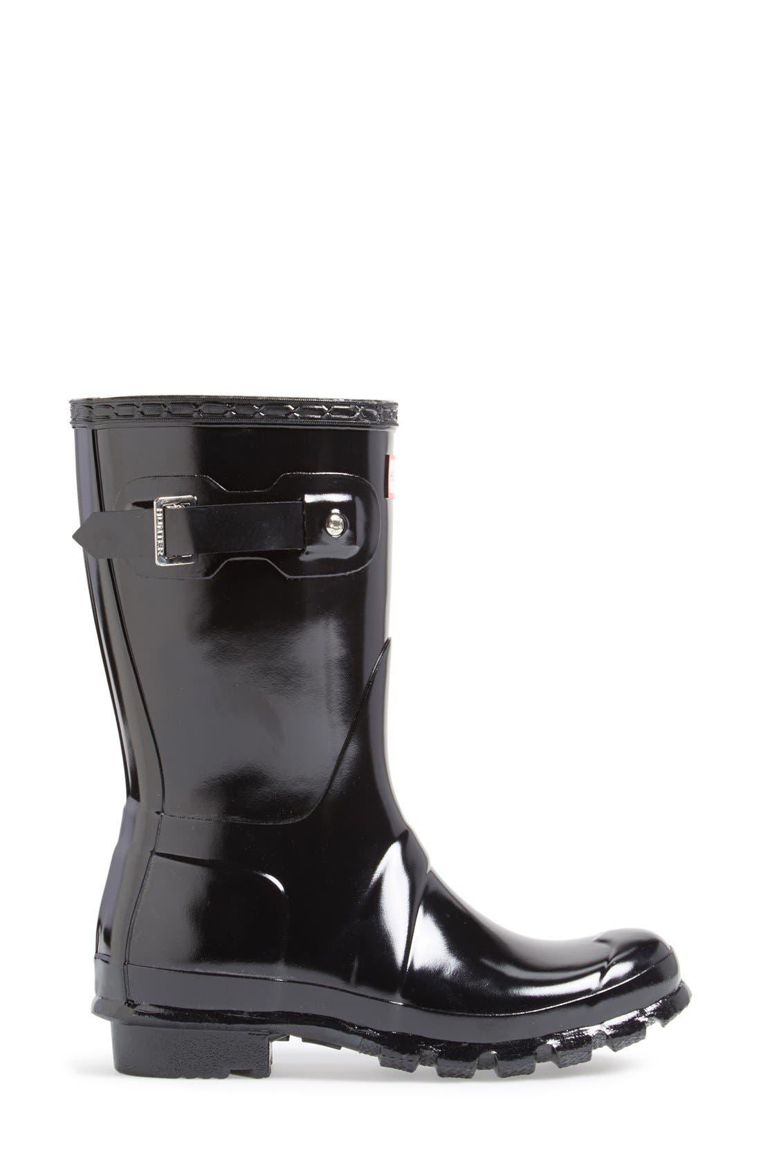 Alternate Image 6  - Hunter 'Original Short' Gloss Rain Boot (Women)
