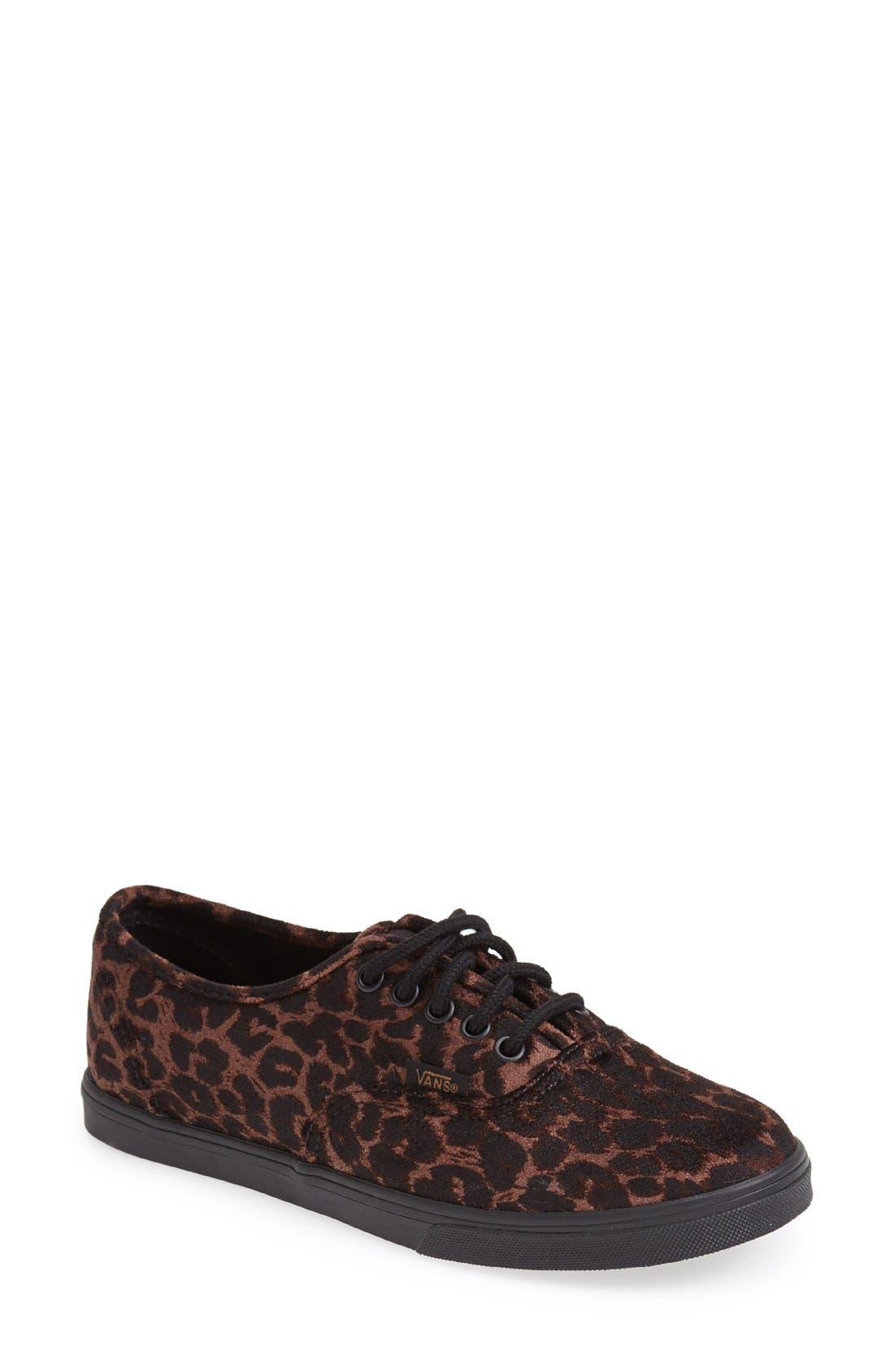 Main Image - Vans 'Authentic - Lo Pro' Leopard Print Sneaker (Women)