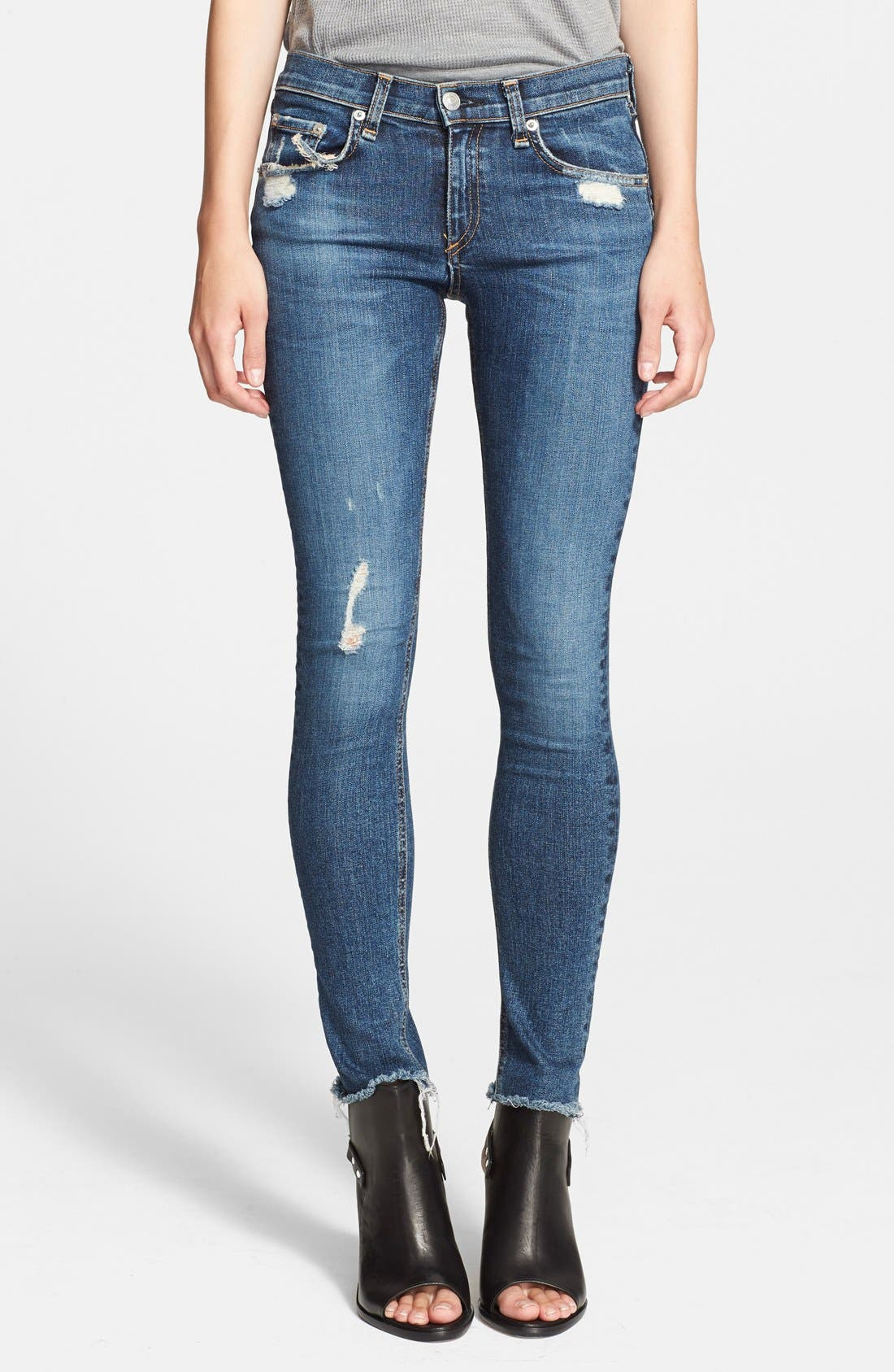 rag & bone/JEAN 'The Skinny' Stretch Jeans (La Paz)