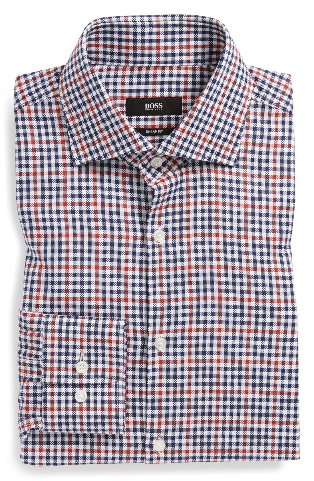 Main Image - BOSS HUGO BOSS 'Miles US' Sharp Fit Check Dress Shirt