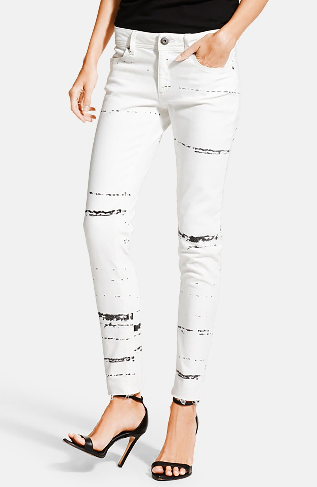 Main Image - DL1961 'Emma' Power Legging Jeans (Splatter)