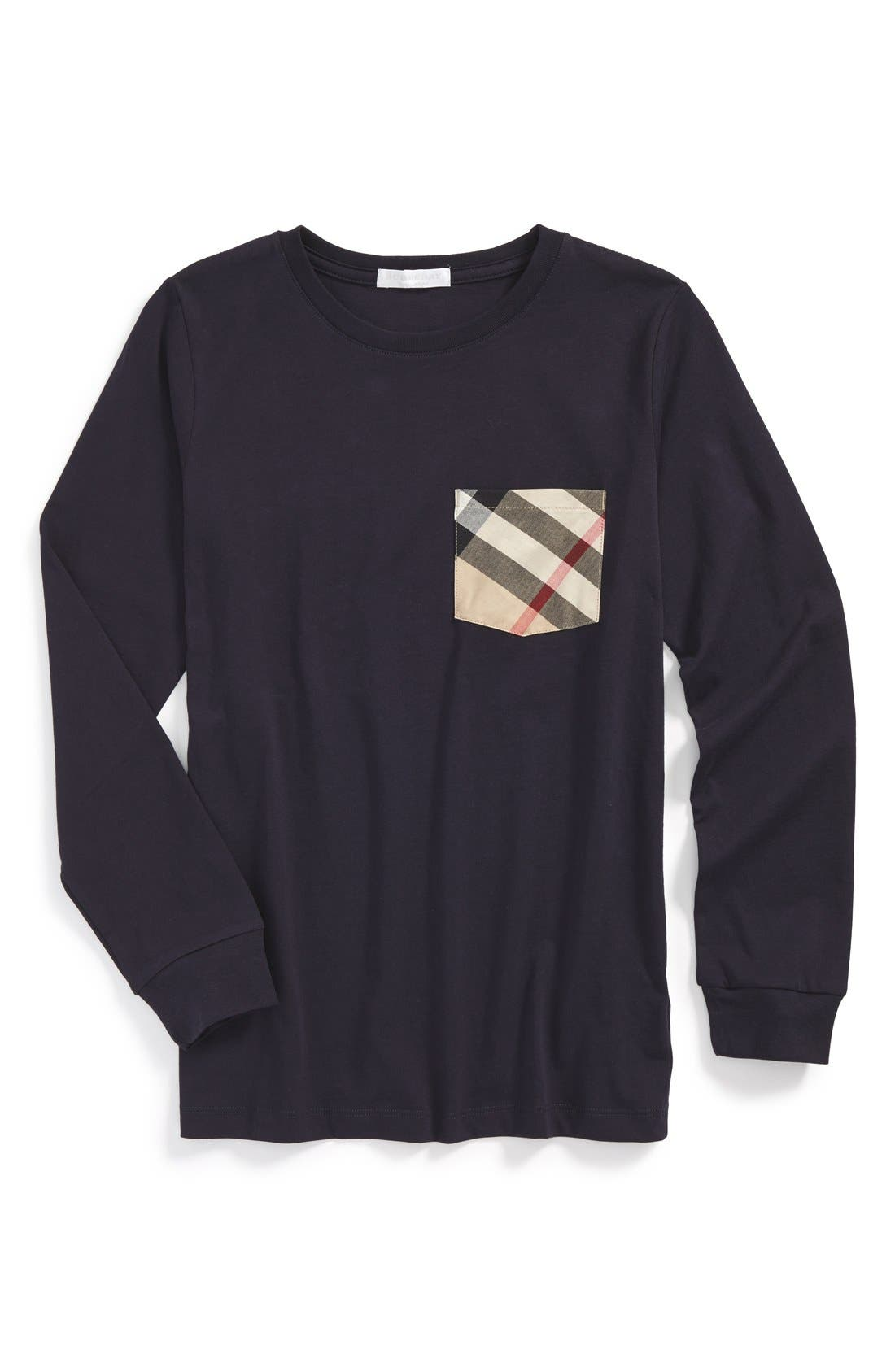 Burberry Check Print Chest Pocket T-Shirt (Little Boys & Big Boys)