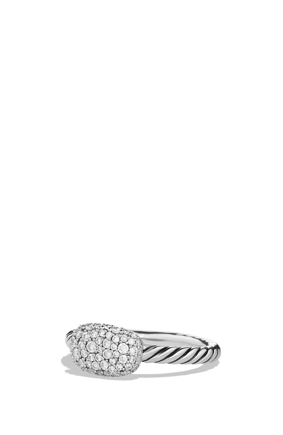 Main Image - David Yurman 'Petite' Pavé Cushion Ring with Diamonds