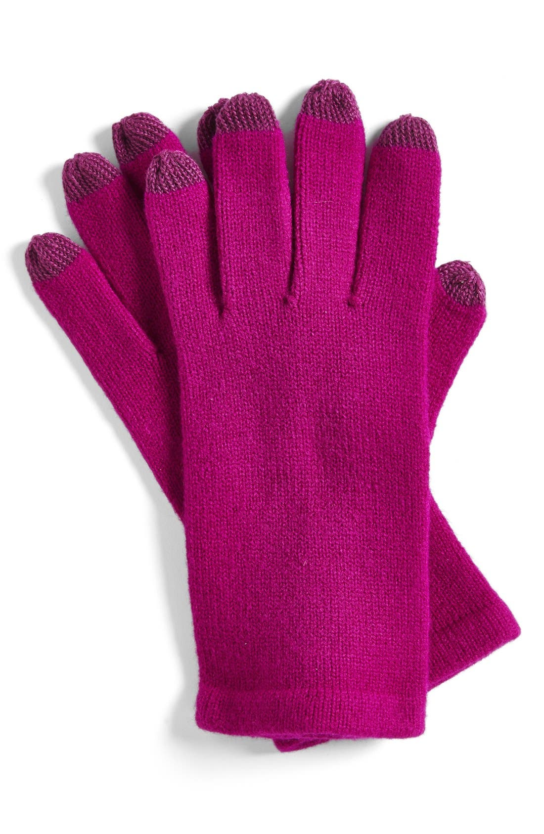 'Allover Touch' Gloves,                         Main,                         color, Magenta