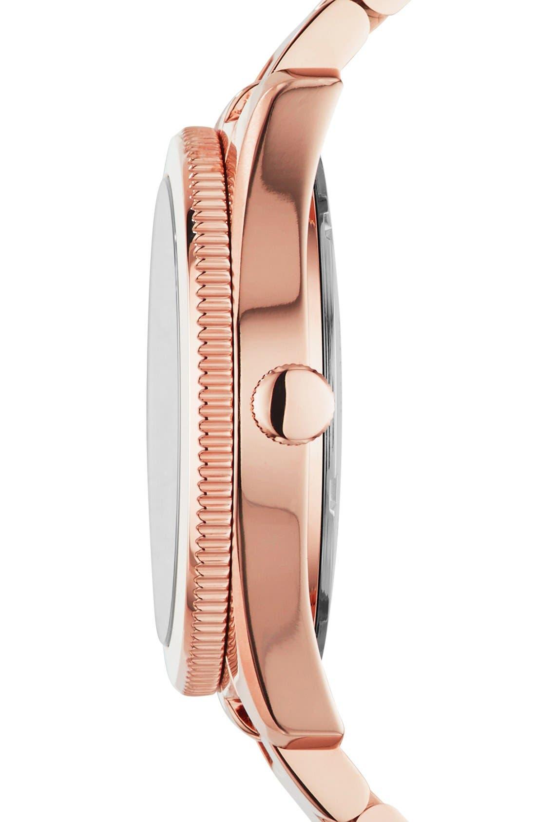 Alternate Image 3  - Fossil 'Perfect Boyfriend' Pavé Dial Bracelet Watch, 39mm
