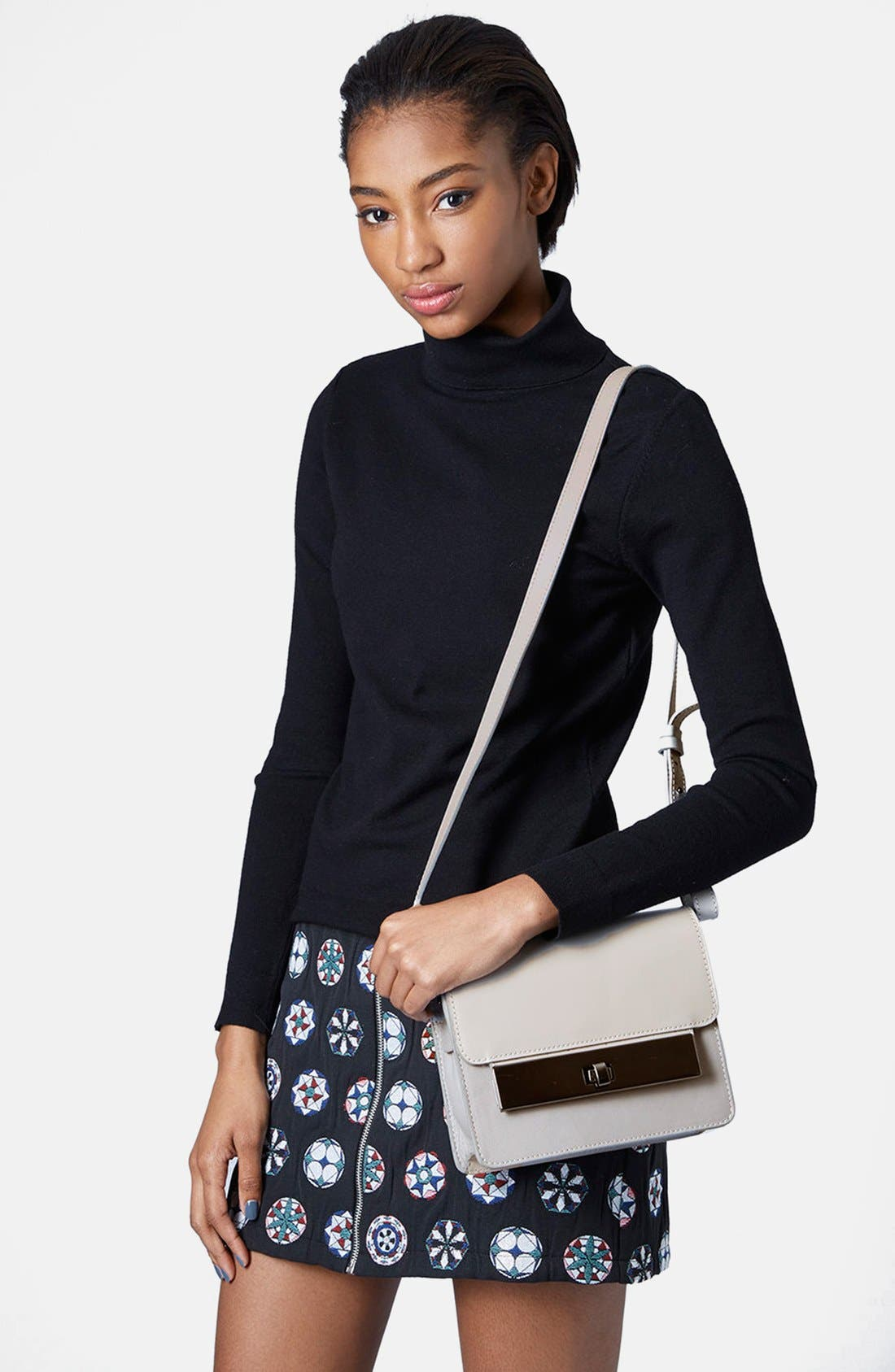 Alternate Image 2  - Topshop Premium Plate Shoulder Bag
