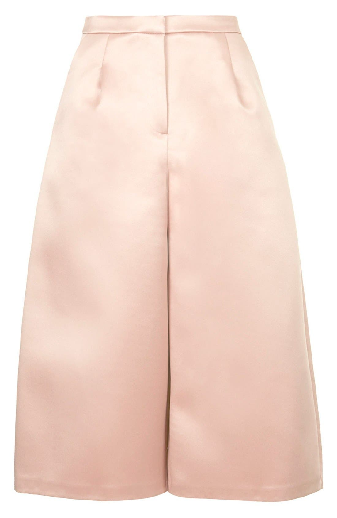 Alternate Image 3  - Topshop Pleated Satin Culottes