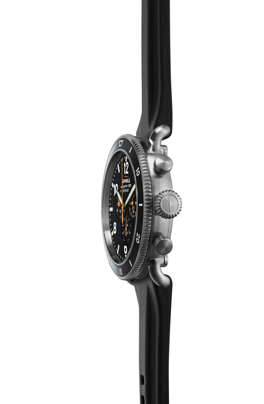 Alternate Image 6  - Shinola 'The Black Blizzard' Chronograph Interchangeable Strap Watch, 48mm (Limited Edition)