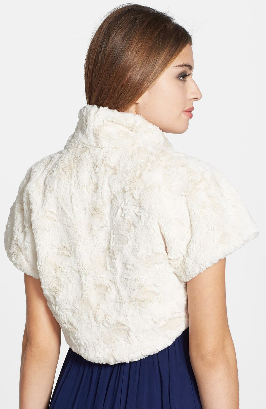 Alternate Image 2  - Eliza J Faux Fur Bolero