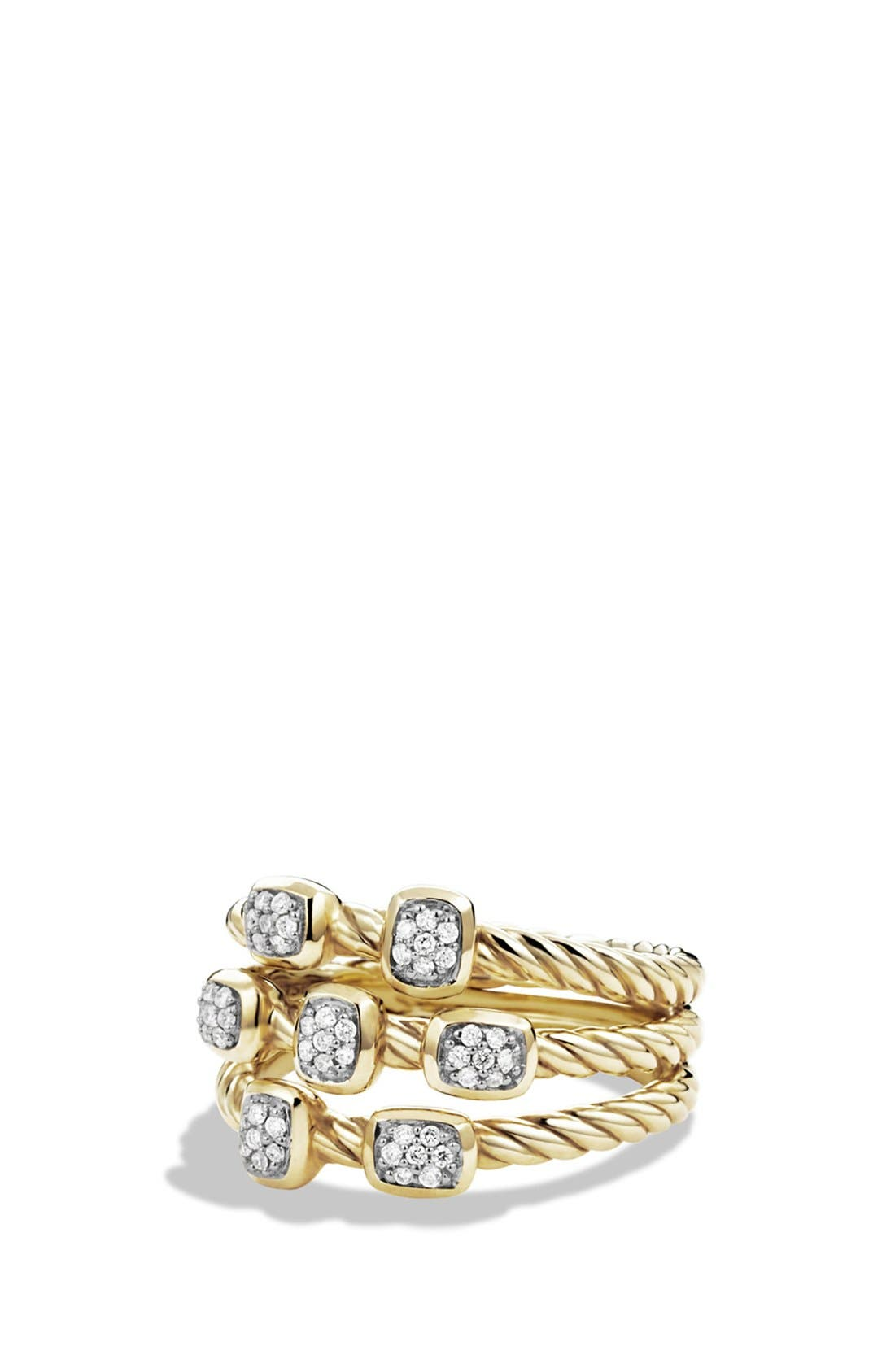 David Yurman 'Confetti' Ring with Diamonds in Gold