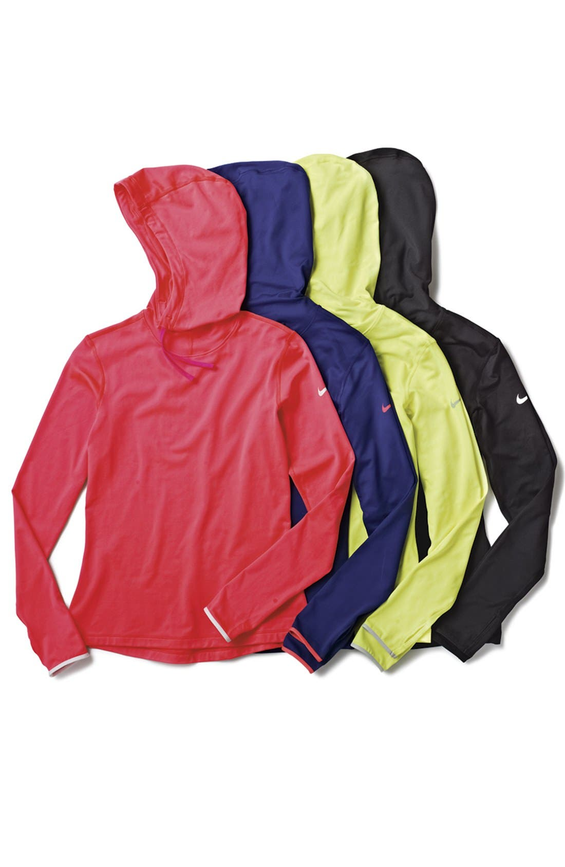 Alternate Image 4  - Nike 'Pro Hyperwarm' Fitted Hoodie