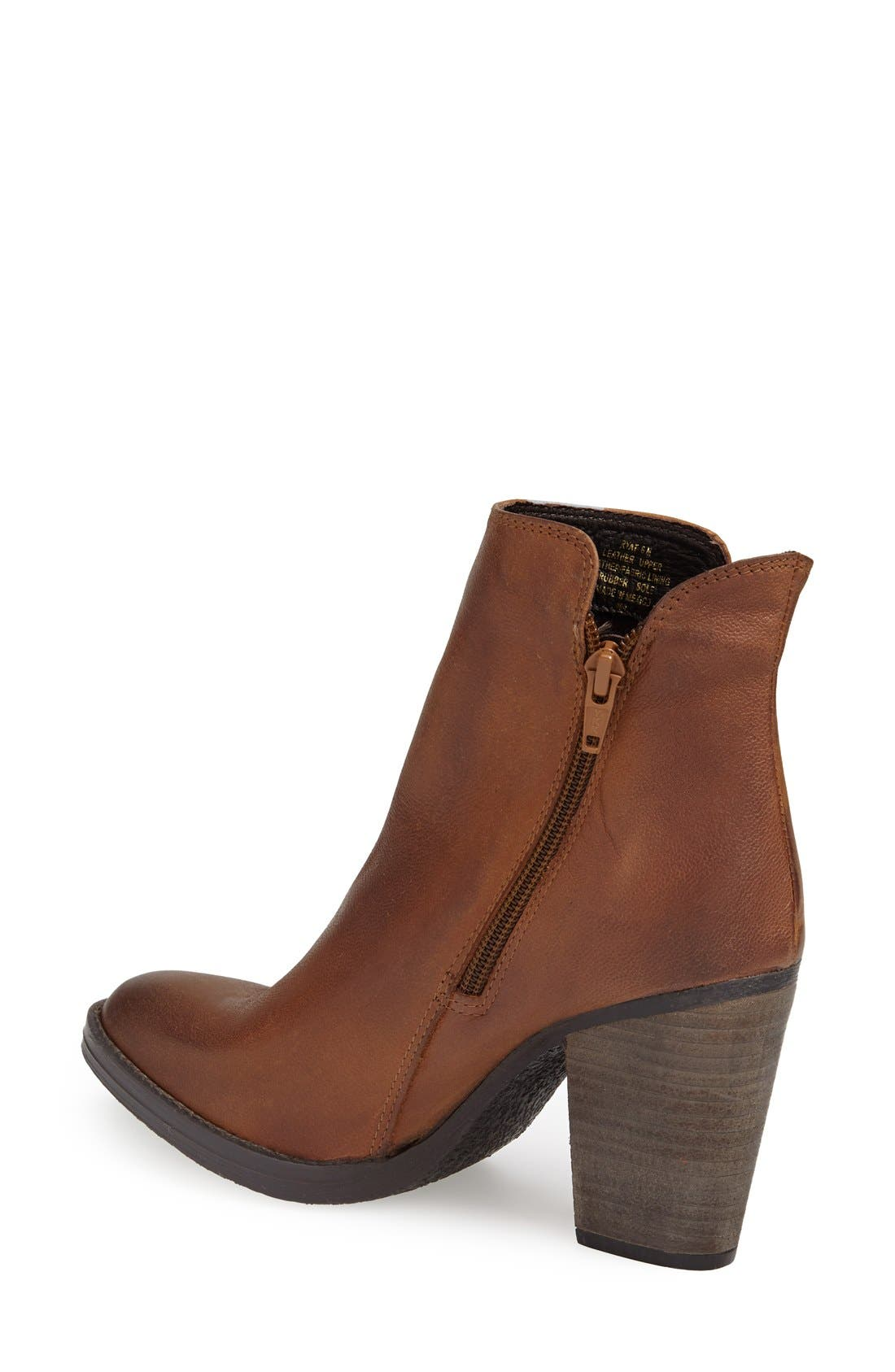 'Ryat' Leather Ankle Bootie,                             Alternate thumbnail 2, color,                             Cognac Leather