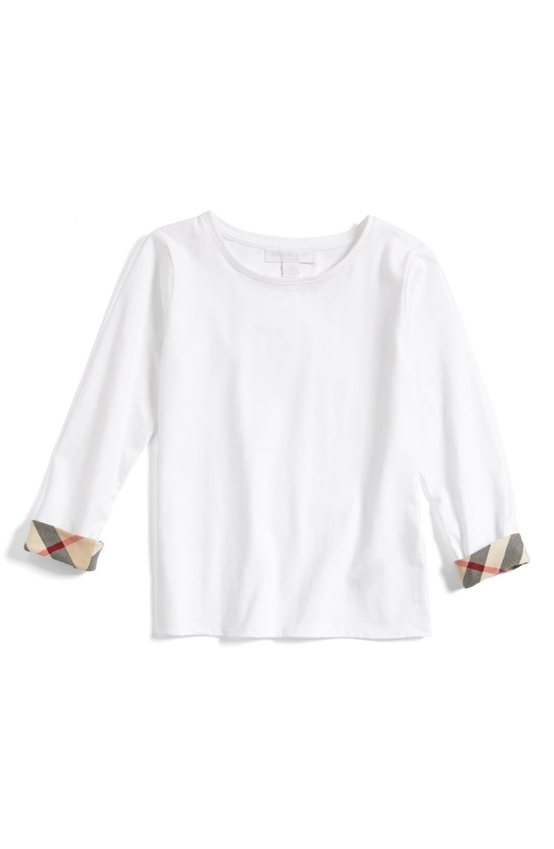 Alternate Image 1 Selected - Burberry 'Tulisa' Tee (Little Girls & Big Girls)