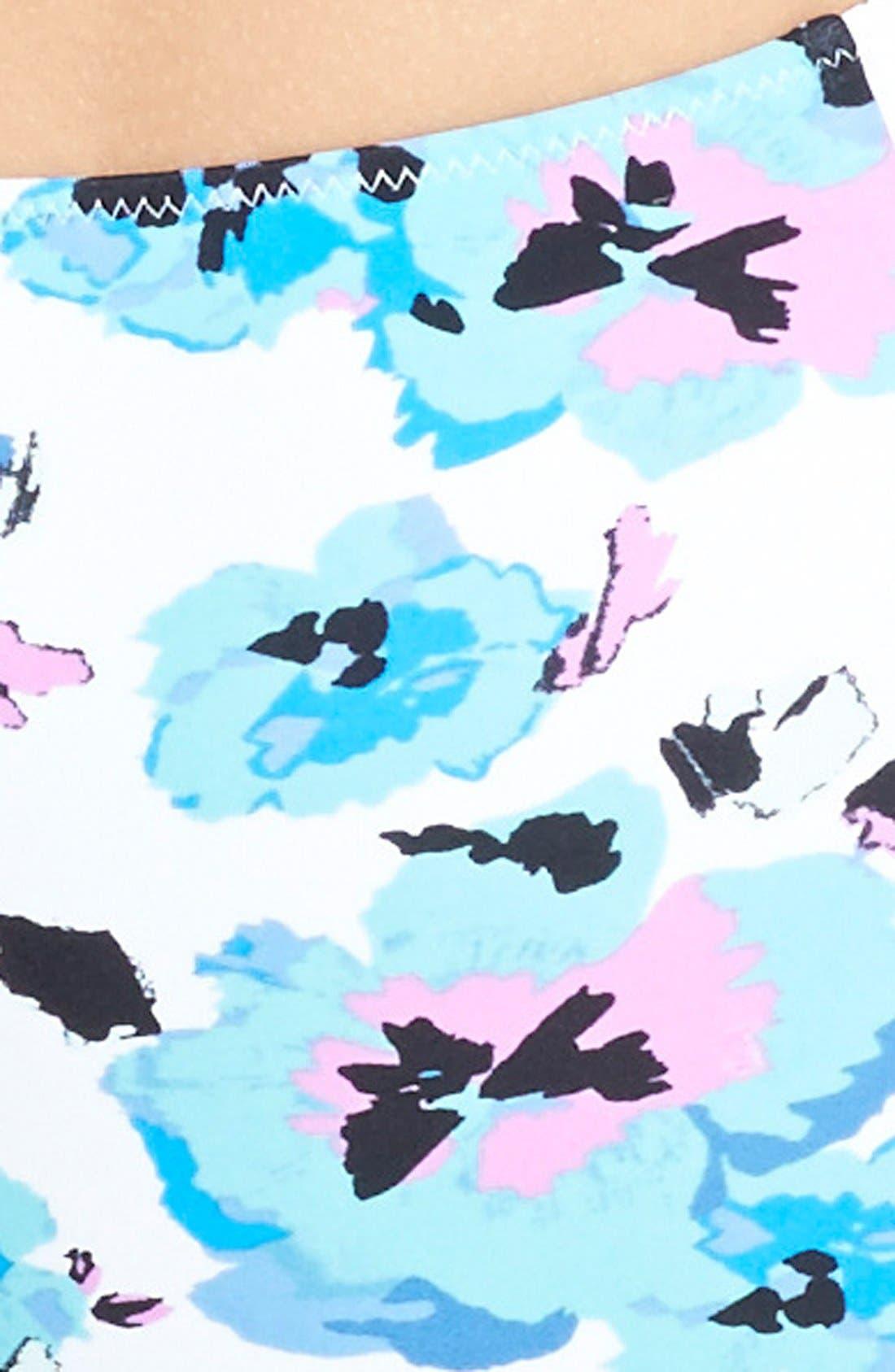 Alternate Image 5  - Volcom 'Floral Junkie' High Waist Bikini Bottoms