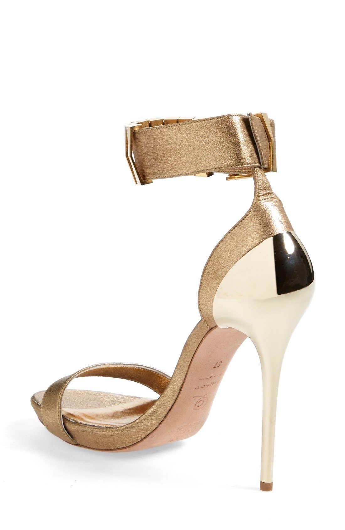Alternate Image 2  - Alexander McQueen Metal Heel Sandal (Women)