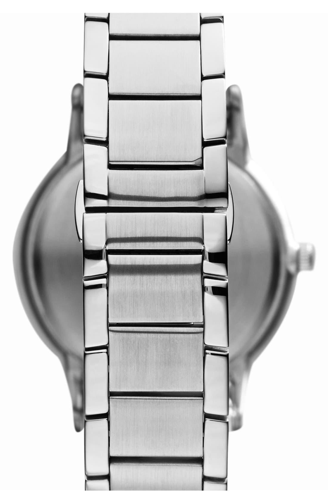 Round Bracelet Watch, 43mm,                             Alternate thumbnail 2, color,                             Silver/ Blue