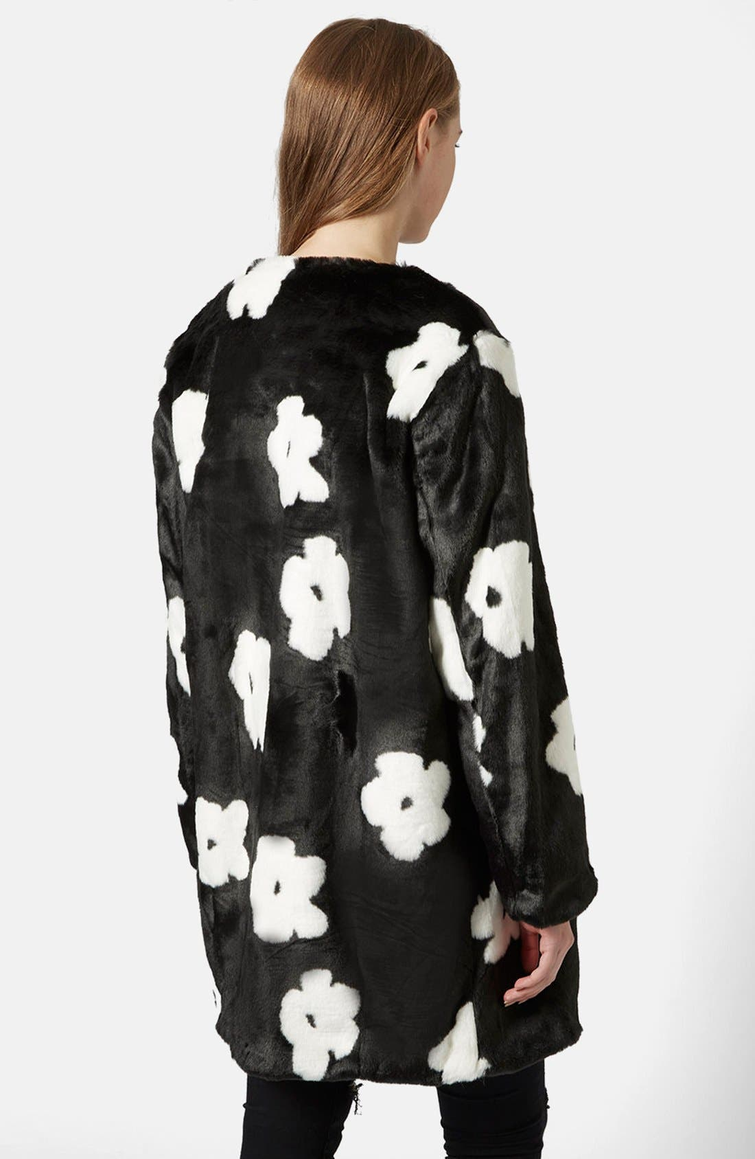 Alternate Image 2  - Topshop Daisy Faux Fur Coat