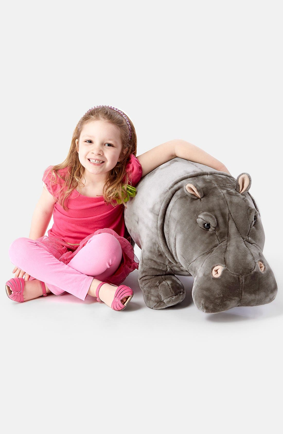 Plush Hippopotamus,                             Alternate thumbnail 2, color,                             Grey