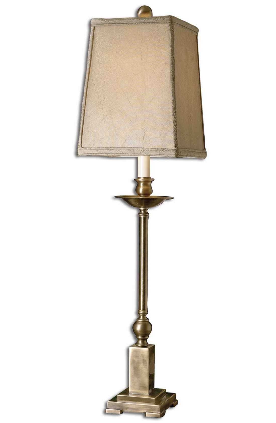 'Lowell' Candlestick Buffet Lamp,                         Main,                         color, Brown