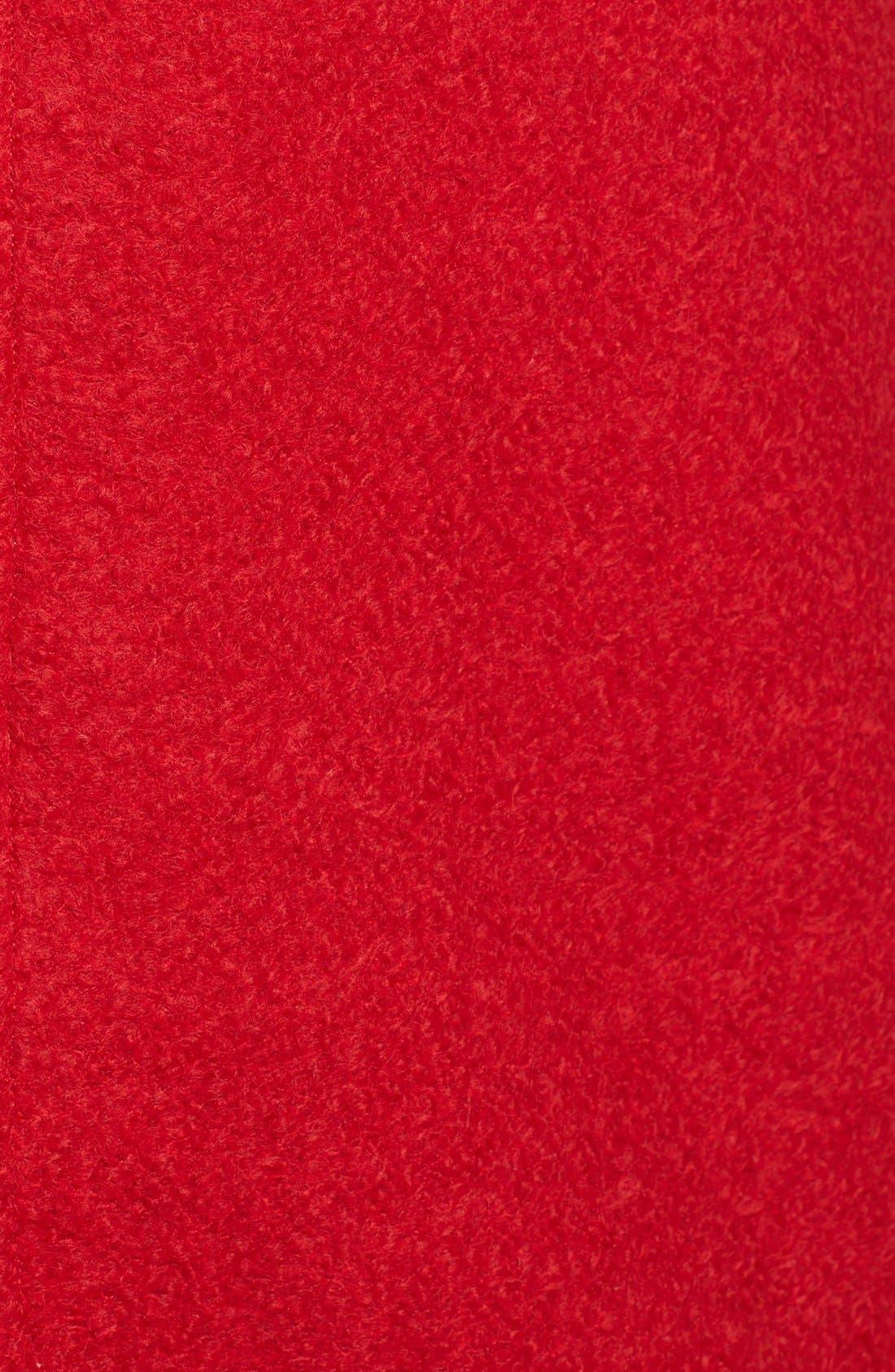 Asymmetrical Zip Coat,                             Alternate thumbnail 3, color,                             Raspberry