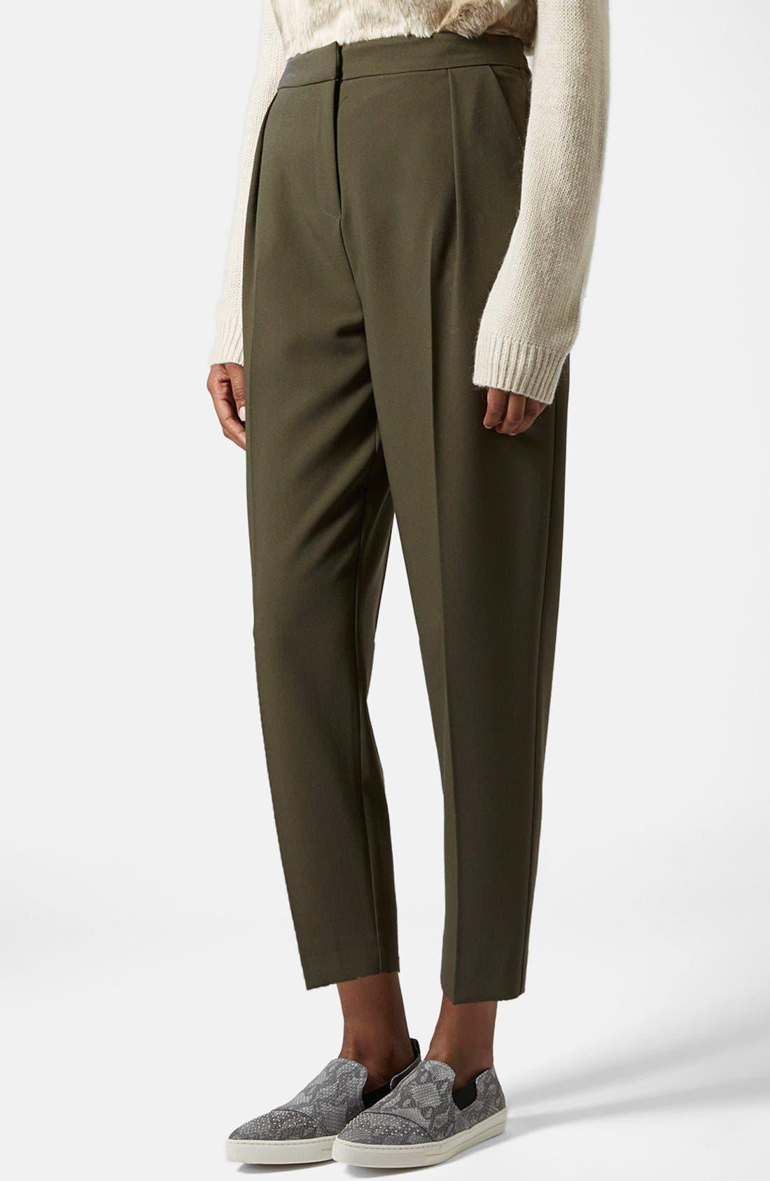 Alternate Image 1 Selected - Topshop Straight Leg Crop Pants