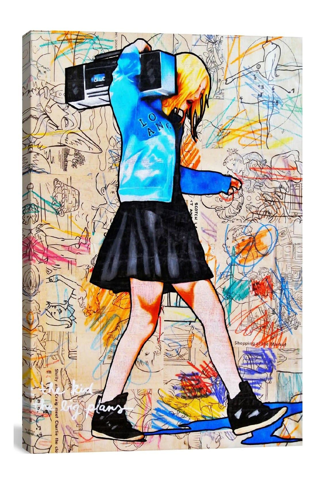 Alternate Image 1 Selected - iCanvas 'I'll Be the Kid with the Big Plans - Annie Terrazzo' Giclée Print Canvas Art