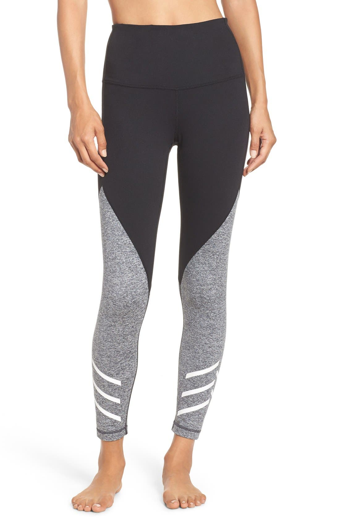 Alternate Image 1 Selected - Zella Arrow High Waist Midi Leggings