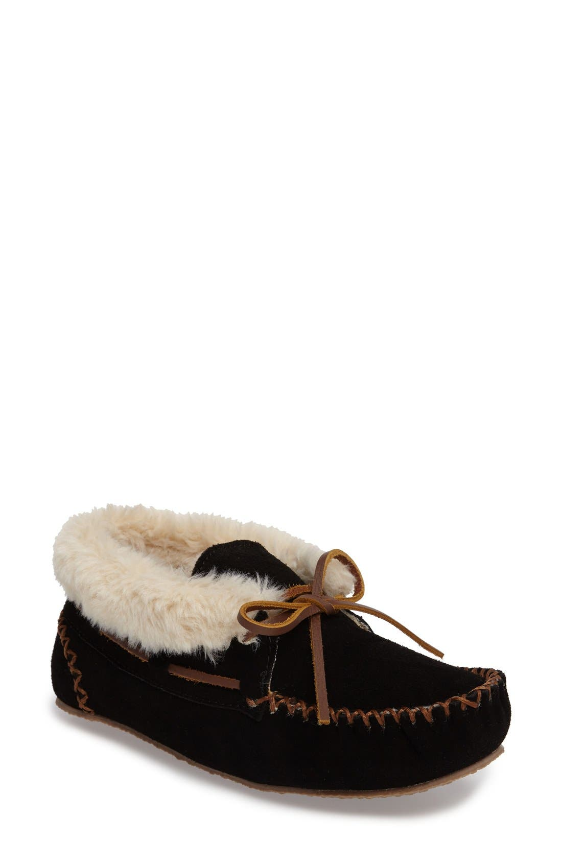 'Chrissy' Slipper Bootie,                         Main,                         color, Black
