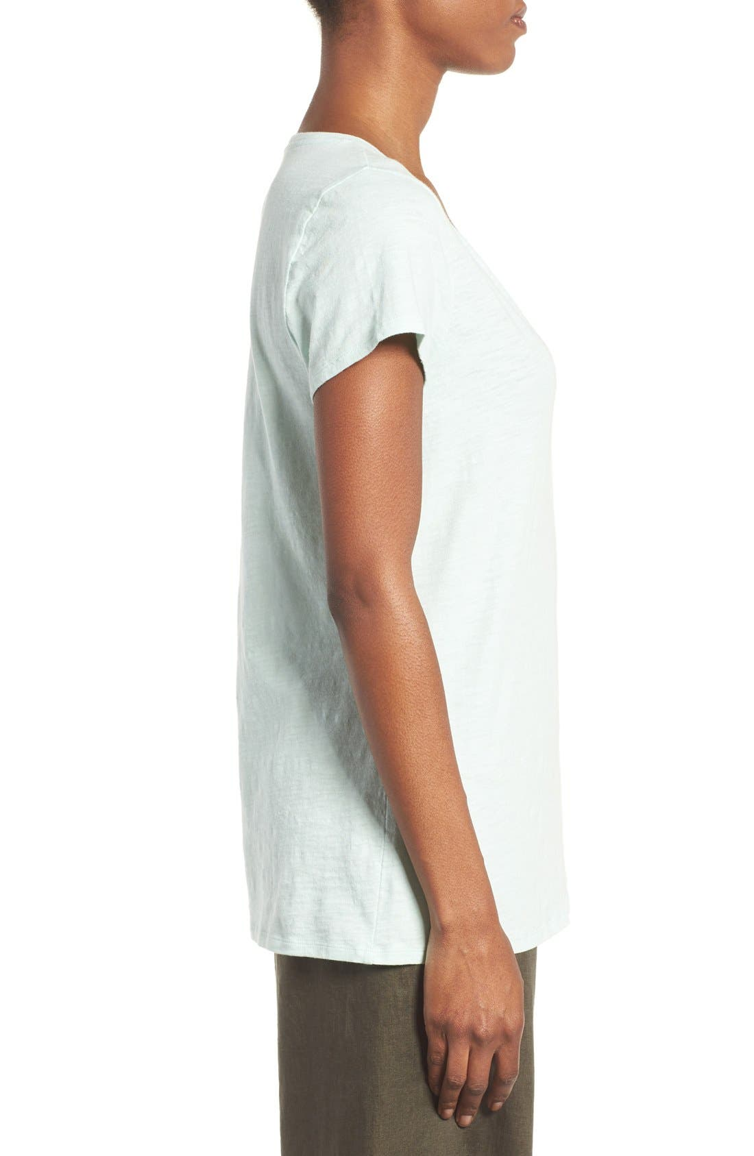 Alternate Image 3  - Eileen Fisher Organic Cotton V-Neck Tee (Regular & Petite) (Nordstrom Exclusive)