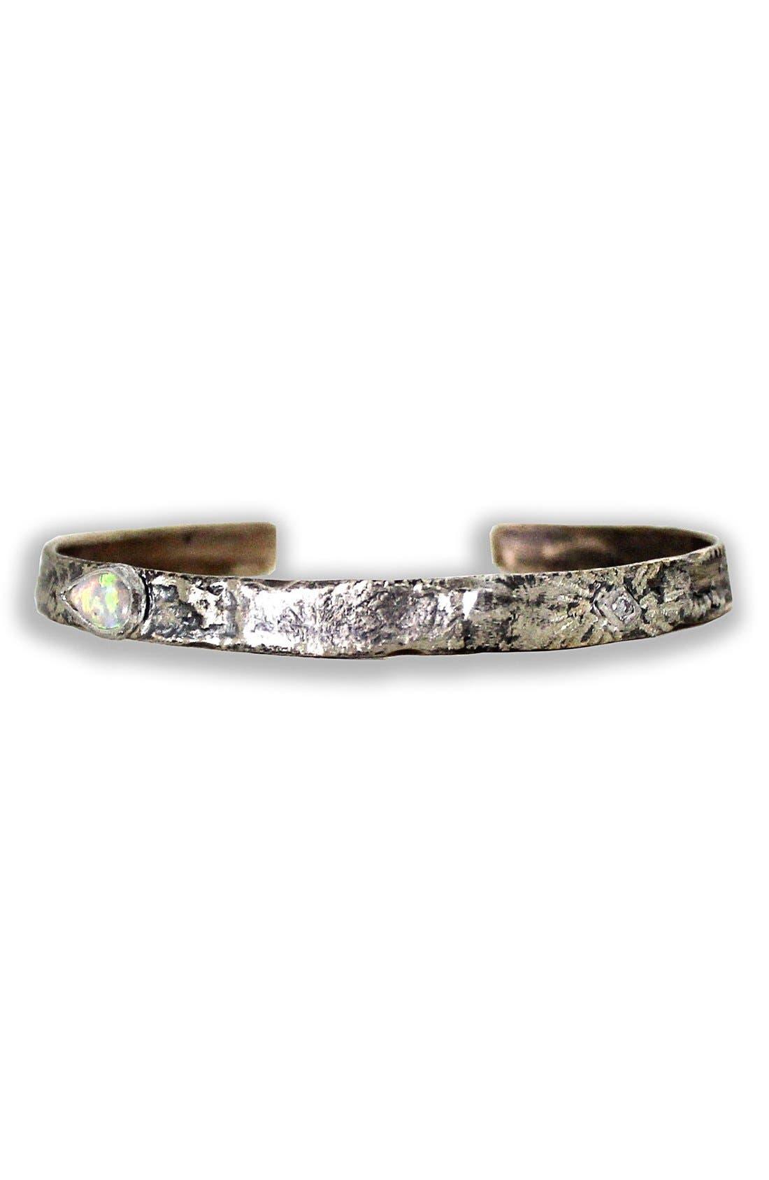 Opal & Diamond Cuff Bracelet,                         Main,                         color, Bronze Diamond