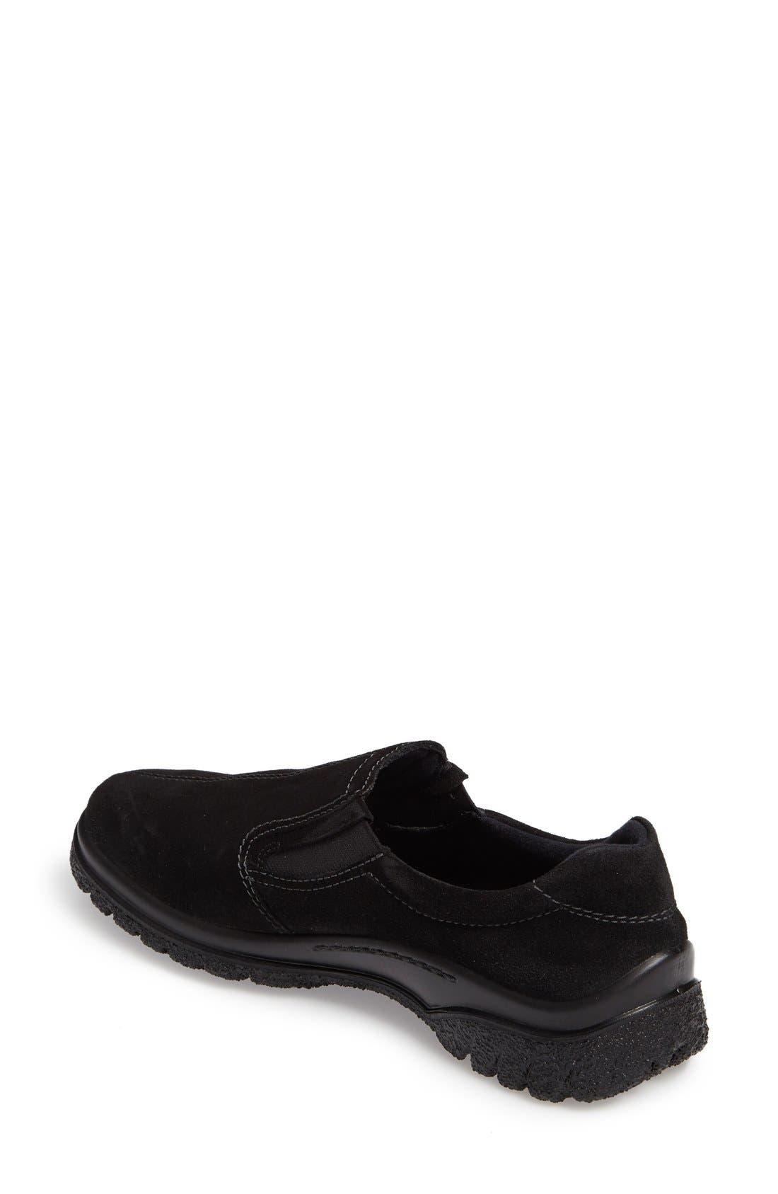 Parson Waterproof Gore-Tex<sup>®</sup> Slip-On Sneaker,                             Alternate thumbnail 2, color,                             Black Suede
