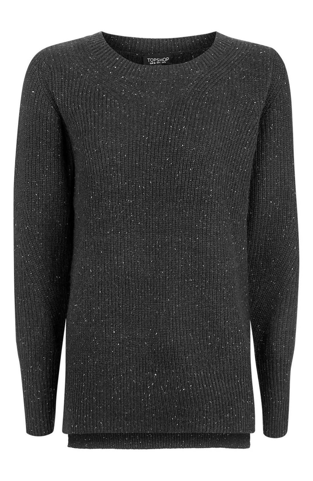 Alternate Image 4  - Topshop Fisherman Rib Sweater