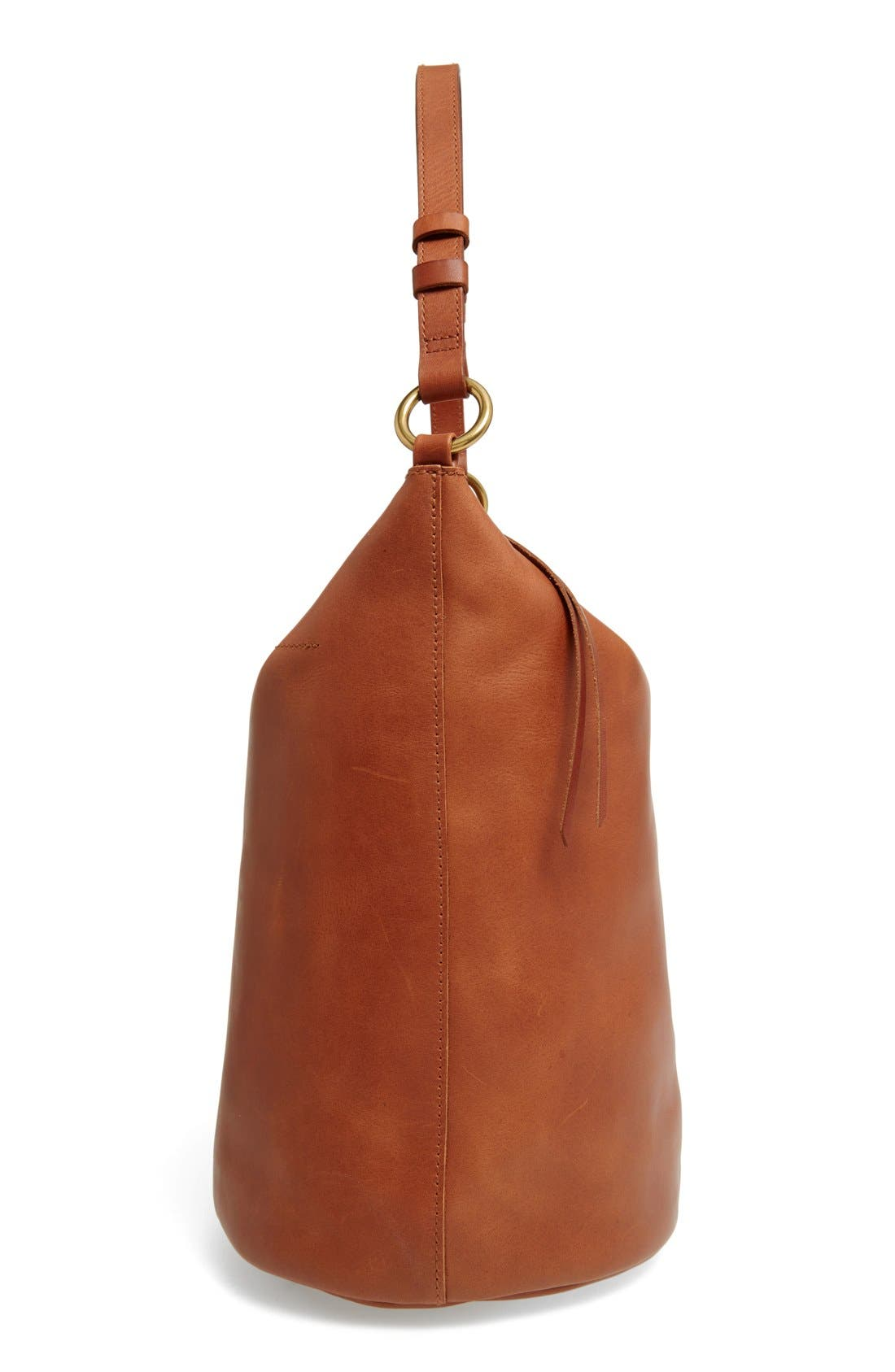 Alternate Image 5  - Madewell O-Ring Leather Bucket Bag