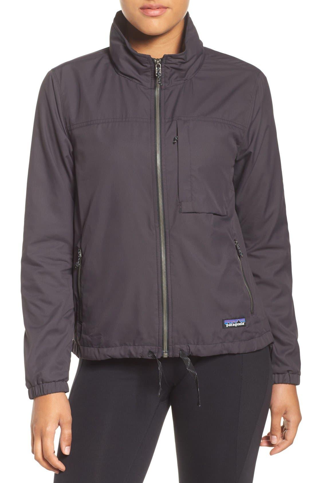 Mountain View Windbreaker Jacket,                             Main thumbnail 1, color,                             Ink Black