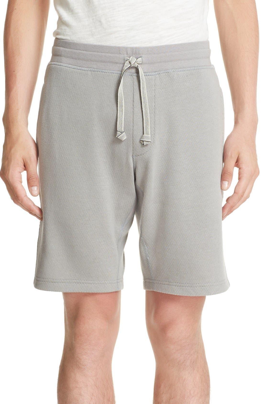 Bonded Jersey Shorts,                             Main thumbnail 1, color,                             Grey