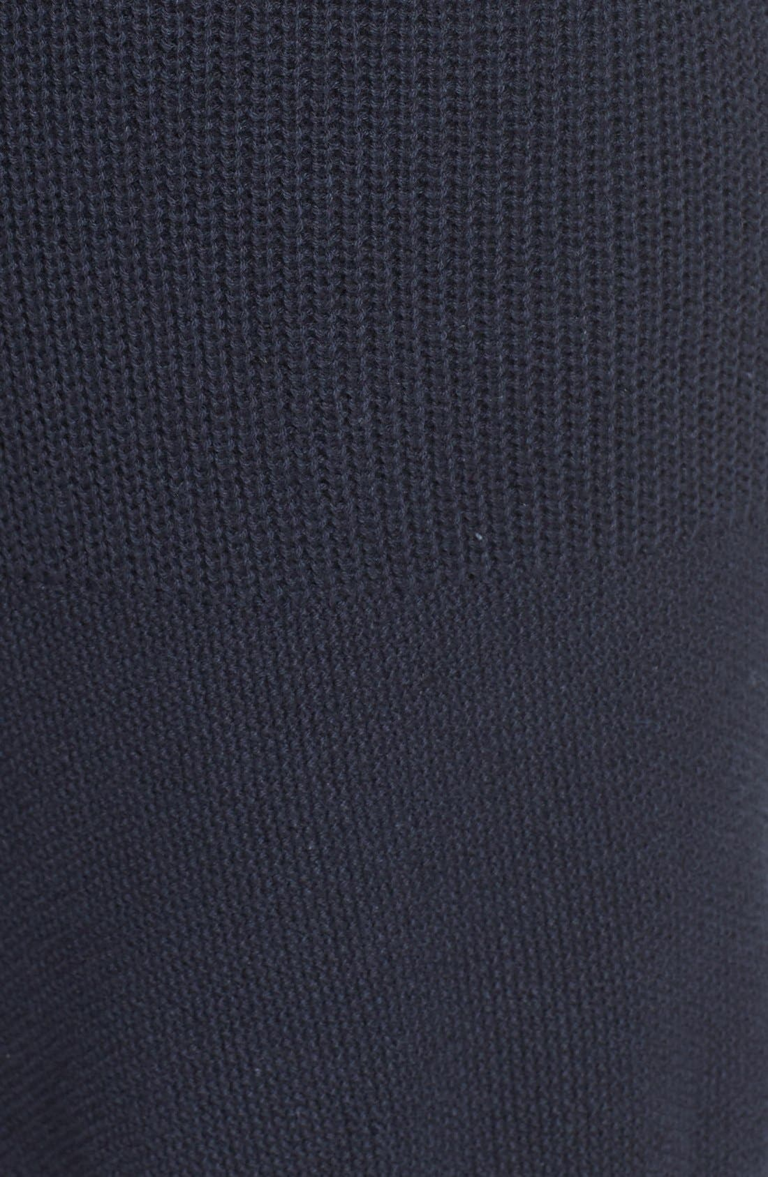Linear Texture Knit Shorts,                             Alternate thumbnail 5, color,                             Night Navy