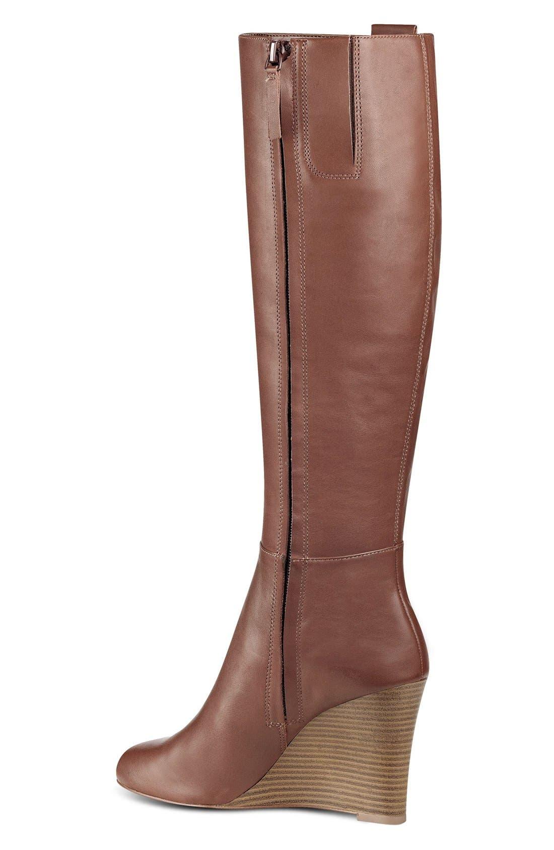 Alternate Image 2  - Nine West Orsella Tall Wedge Boot (Women)