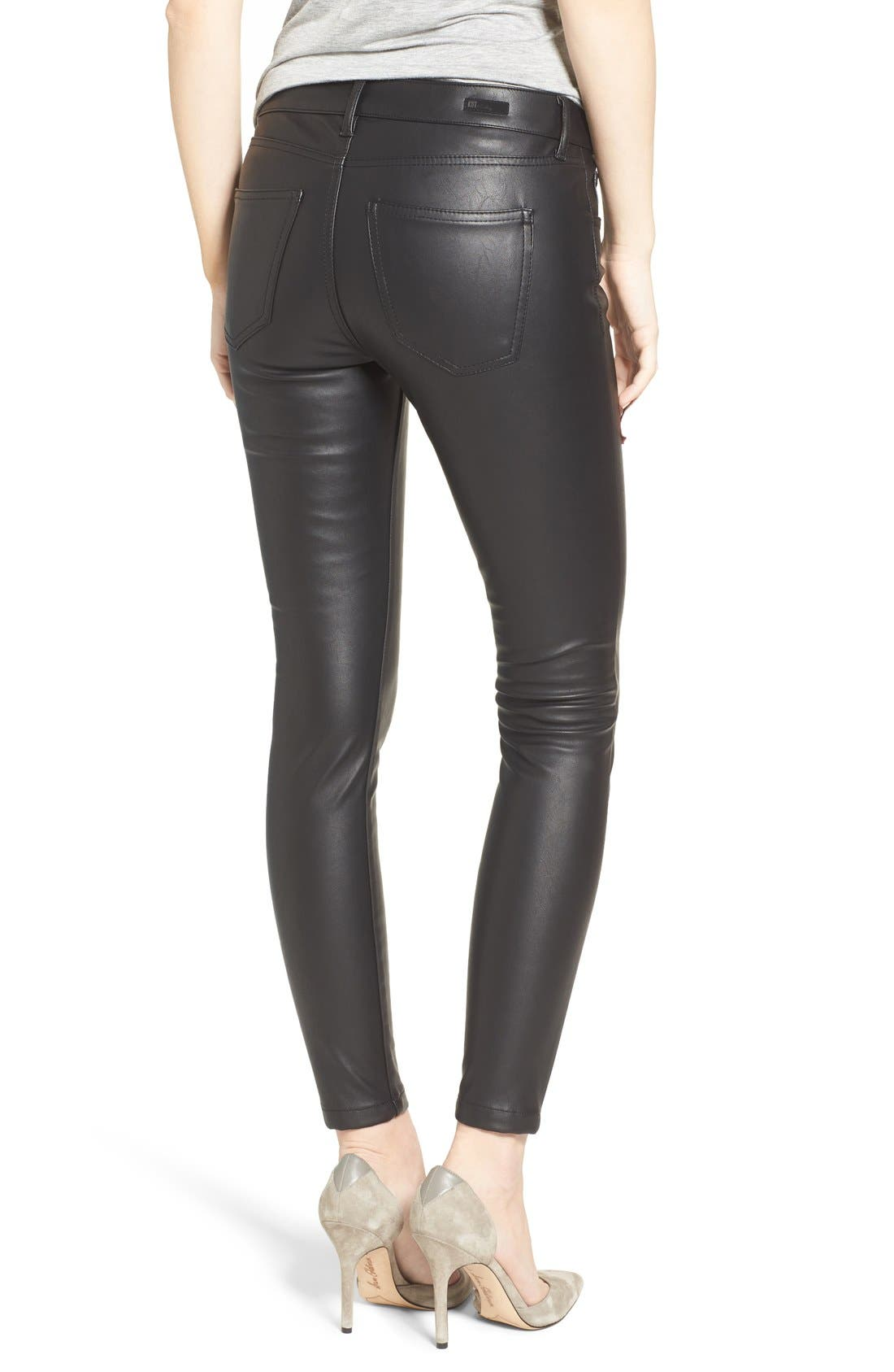 Alternate Image 2  - KUT from the Kloth Brigitte Faux Leather Pants