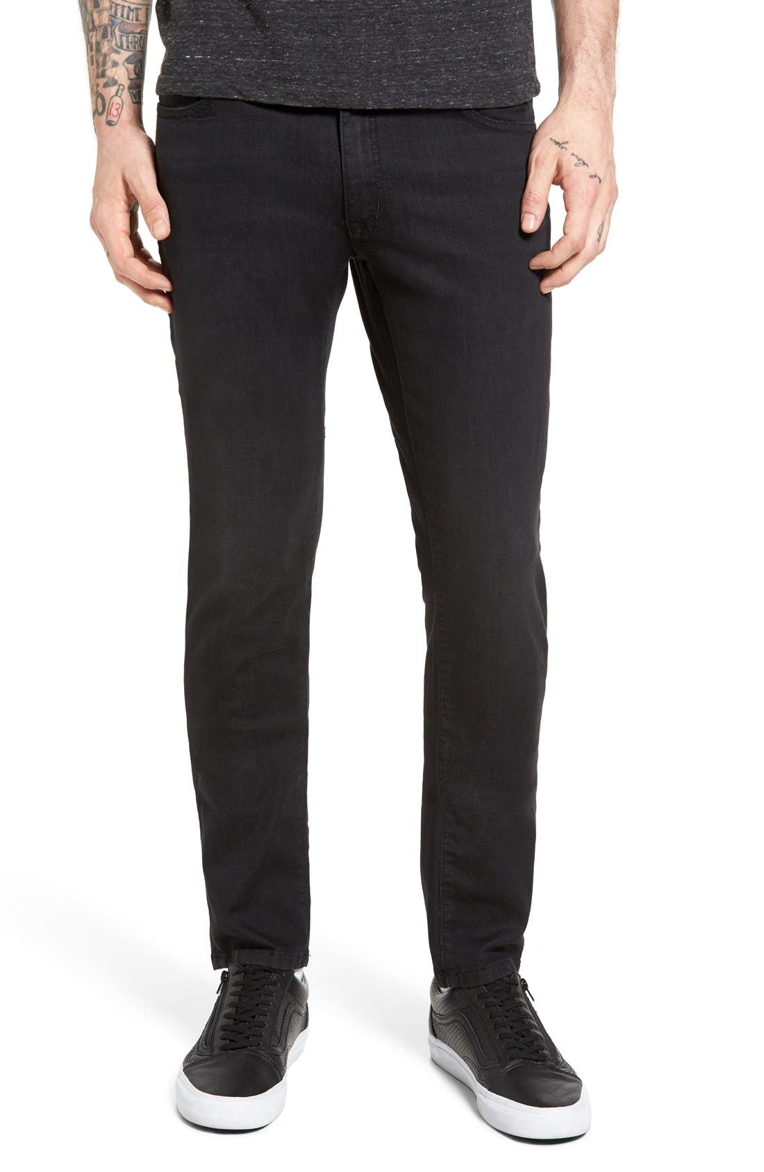 Torino Slim Fit Jeans,                             Main thumbnail 1, color,                             Raven Black