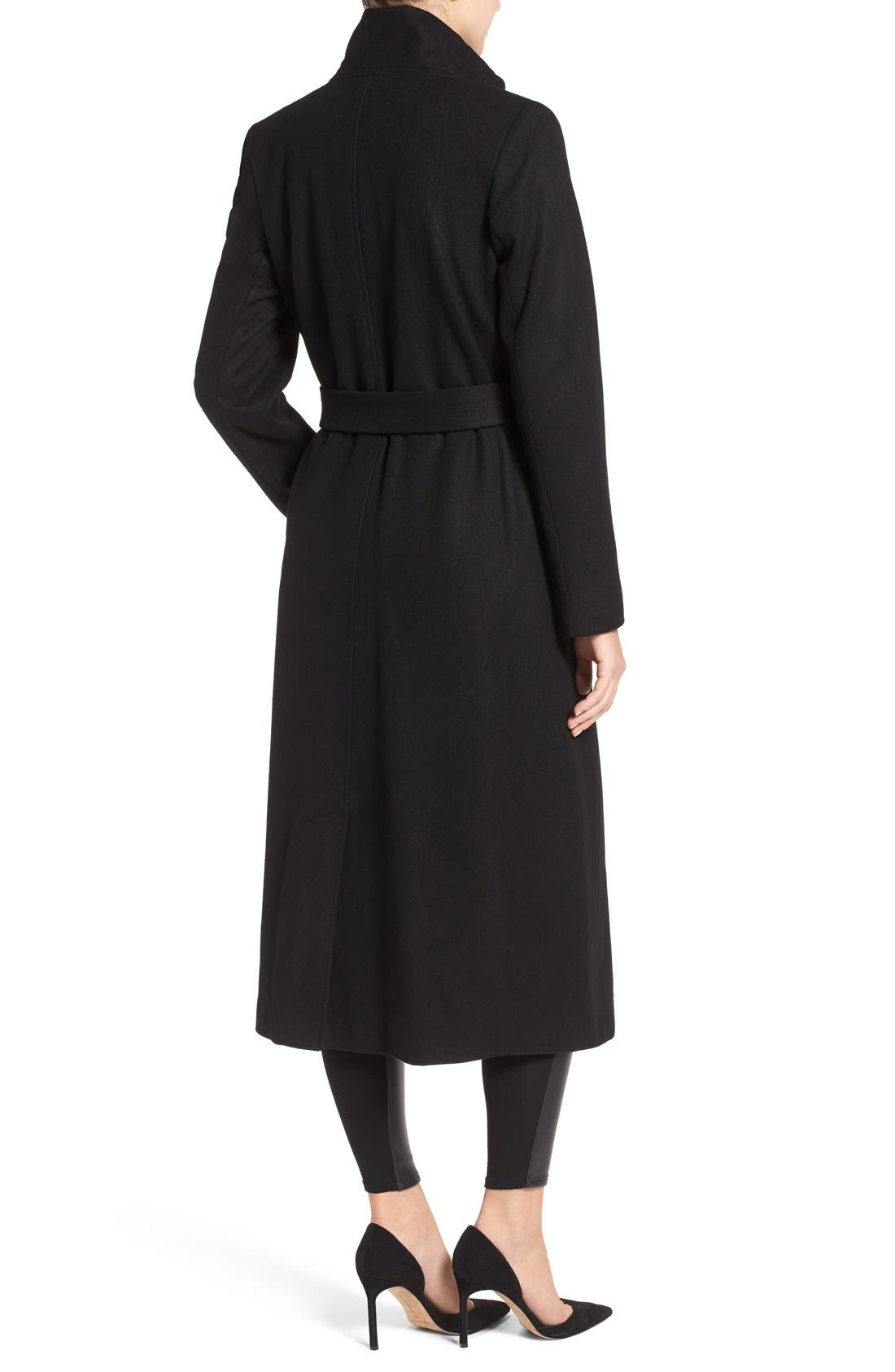 Alternate Image 2  - Kenneth Cole New York Wool Blend Maxi Wrap Coat