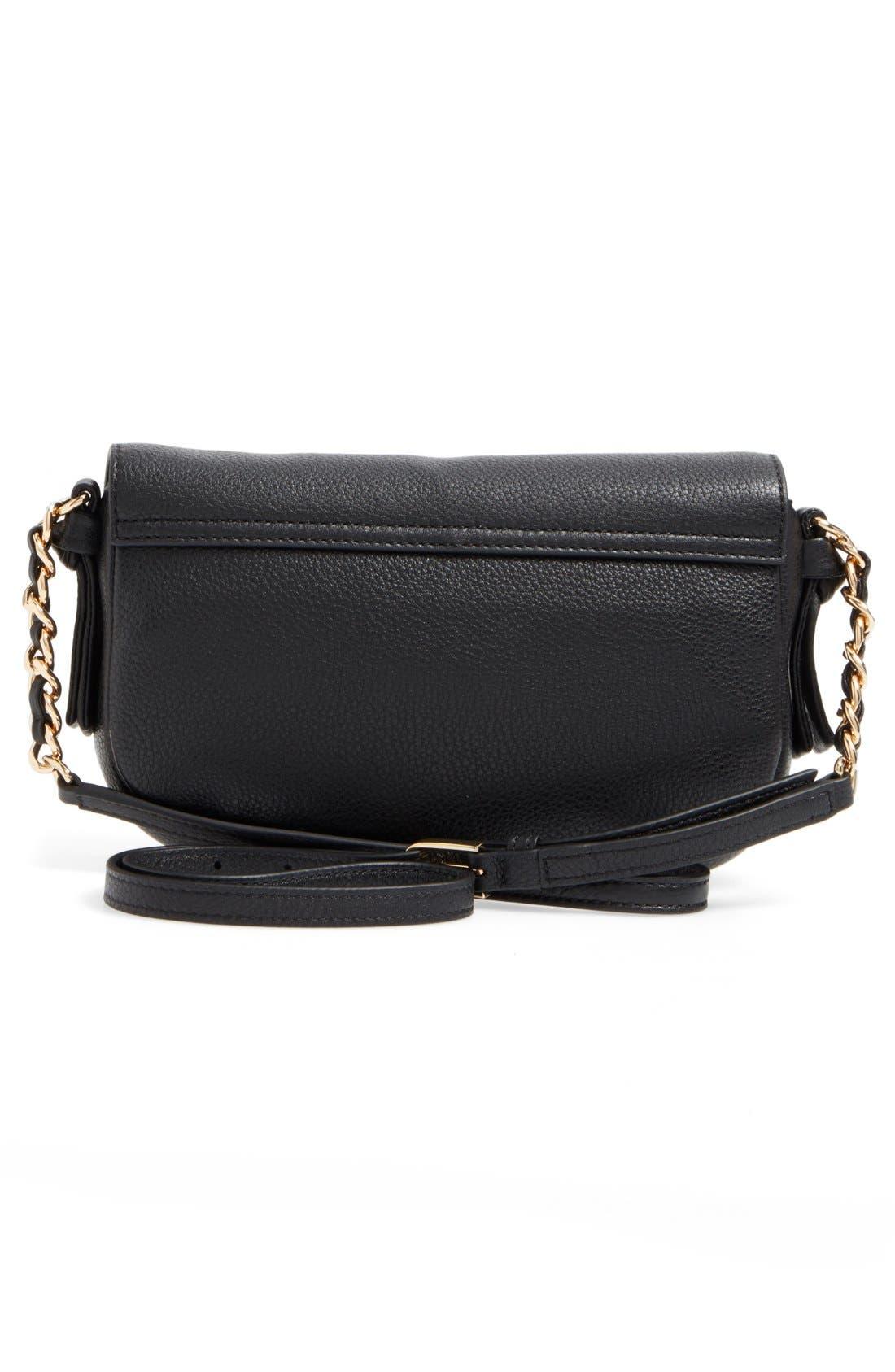 Mini Harper Leather Crossbody Bag,                             Alternate thumbnail 2, color,                             Black