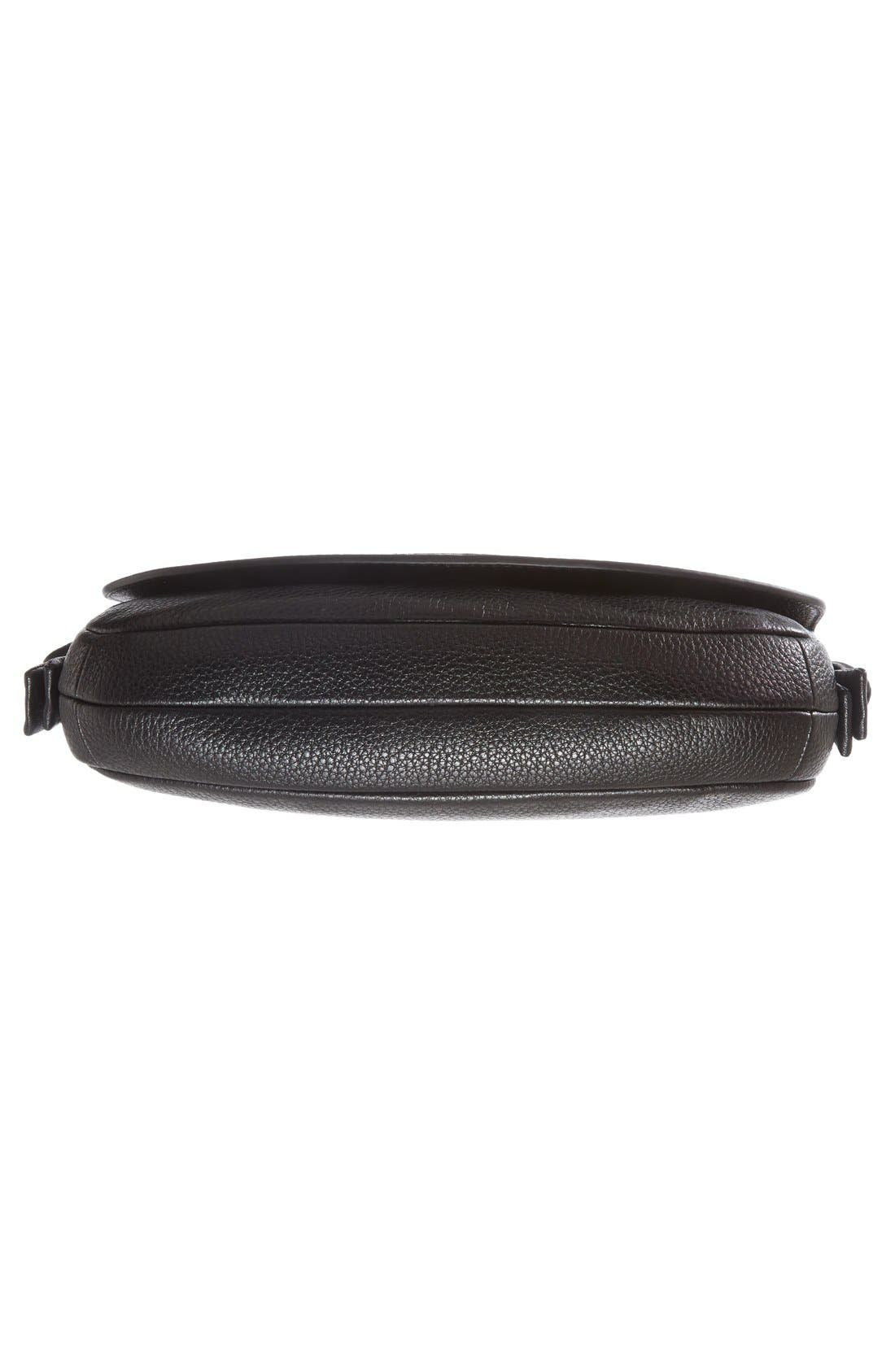 Mini Harper Leather Crossbody Bag,                             Alternate thumbnail 5, color,                             Black
