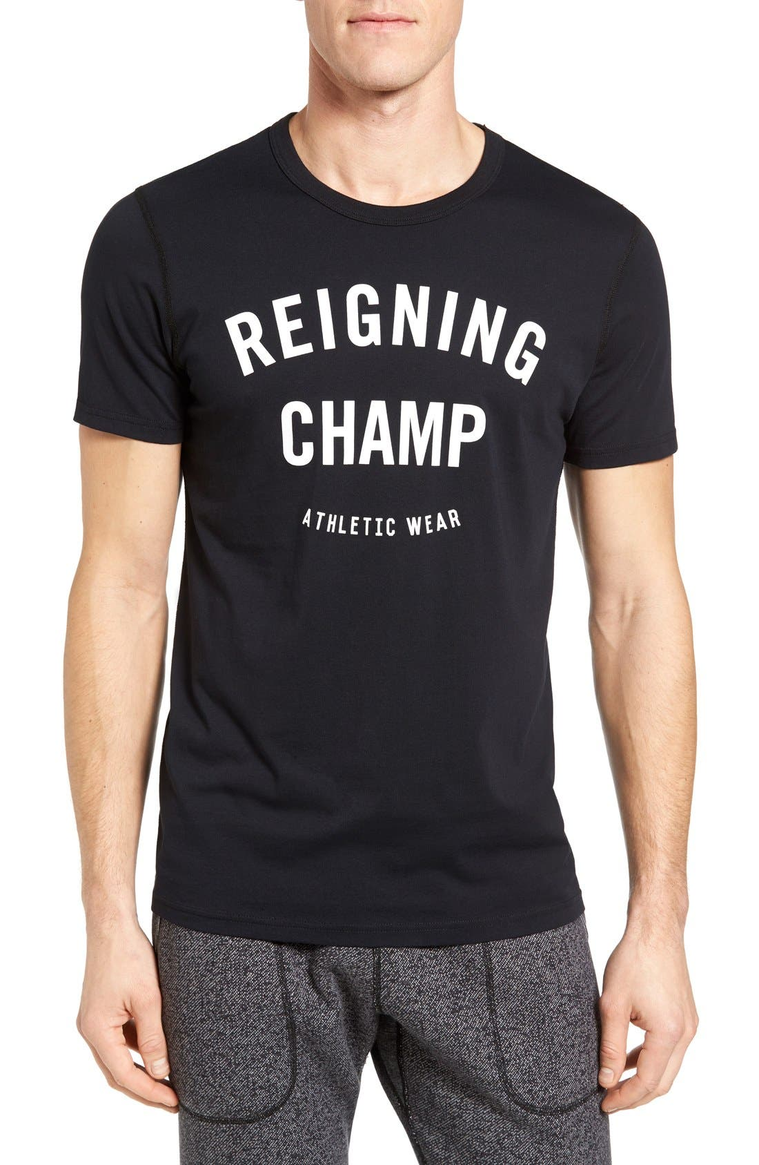 Reigning Champ 'Gym Logo' Graphic T-Shirt