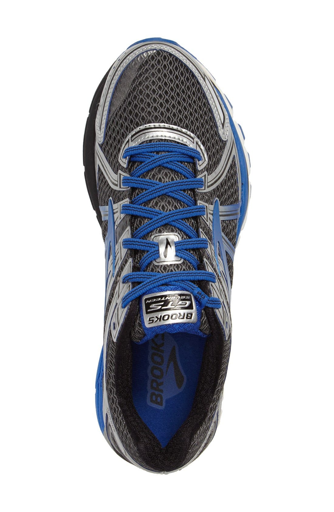 Adrenaline GTS 17 Running Shoe,                             Alternate thumbnail 3, color,                             Anthracite/ Blue/ Silver