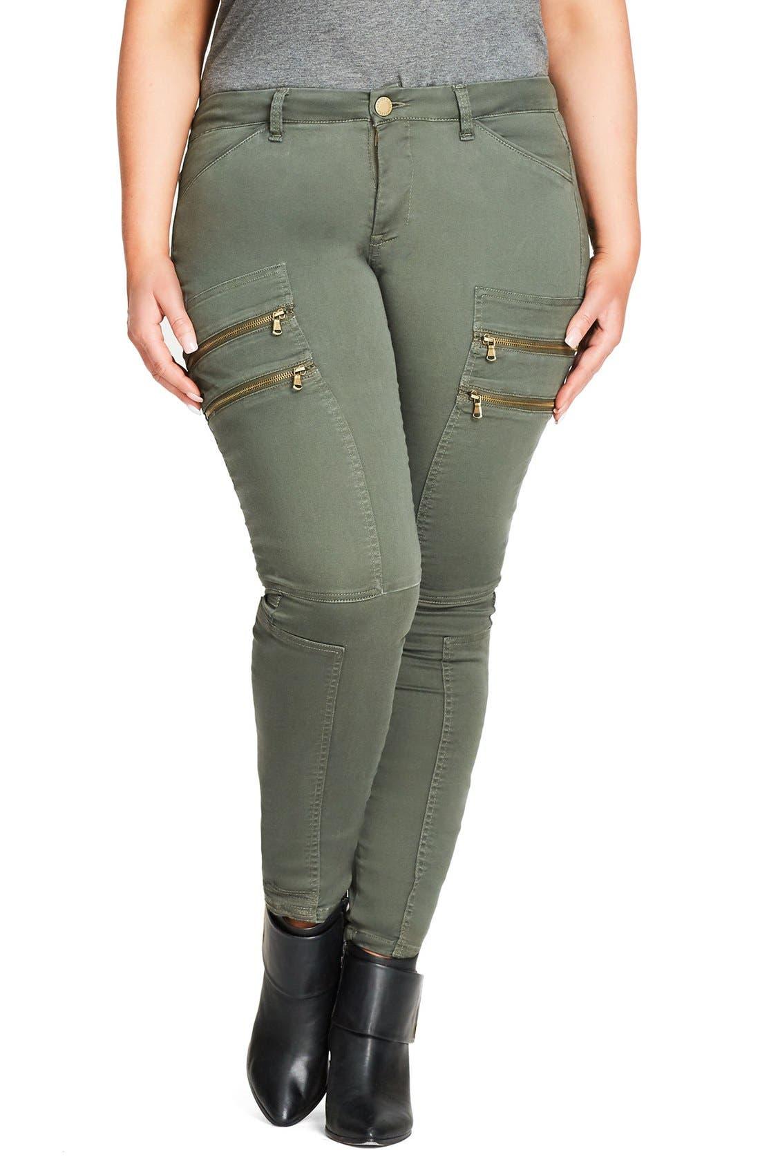 City Chic Commando Zip Skinny Pants (Plus Size)