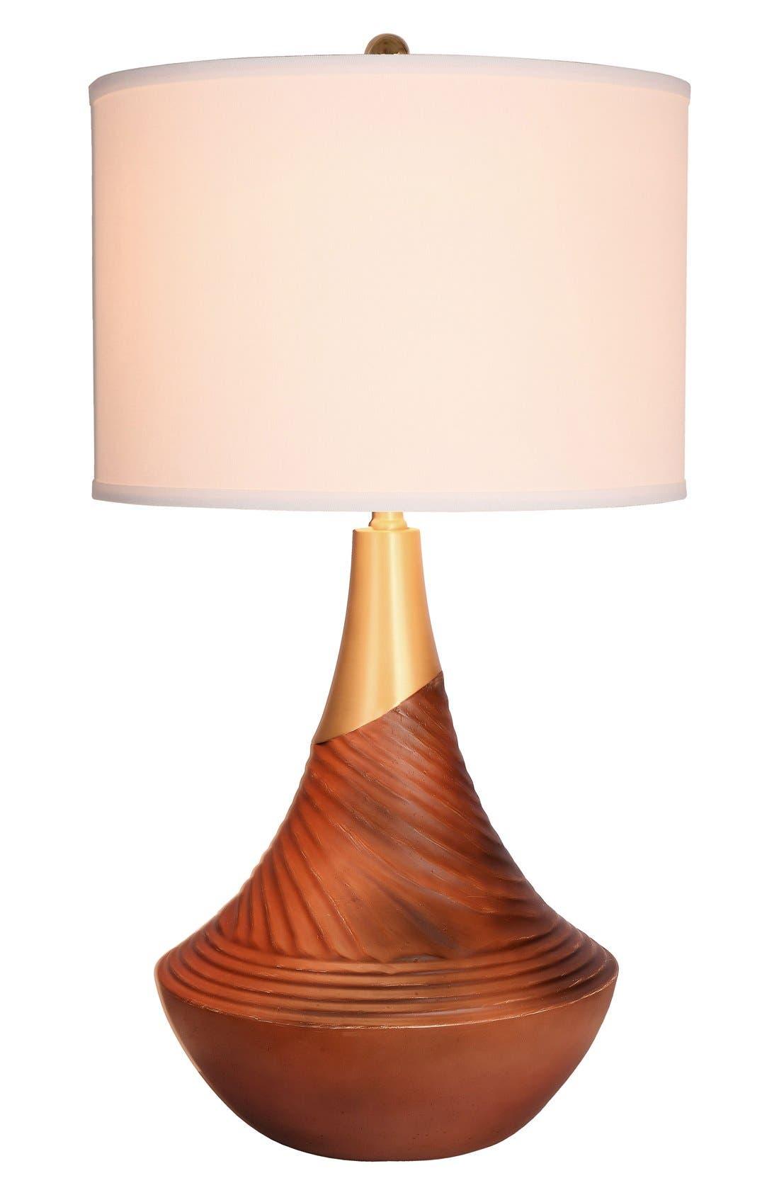 JAlexander Cora Resin Table Lamp,                         Main,                         color, Brown
