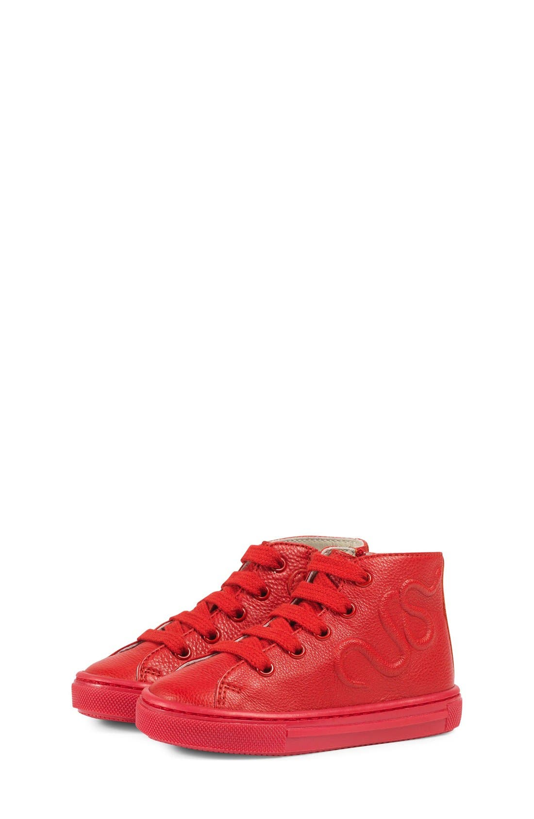 Major High Top Sneaker,                             Alternate thumbnail 2, color,                             Red Leather