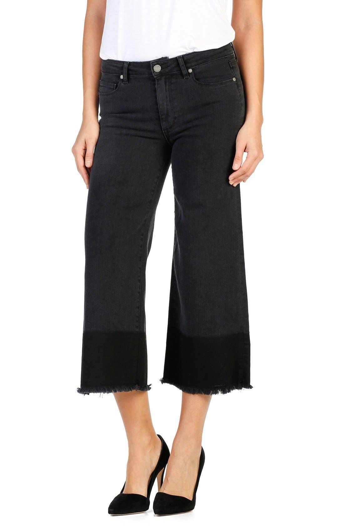 PAIGE Legacy - Lori Crop Wide Leg Jeans (Sadie)