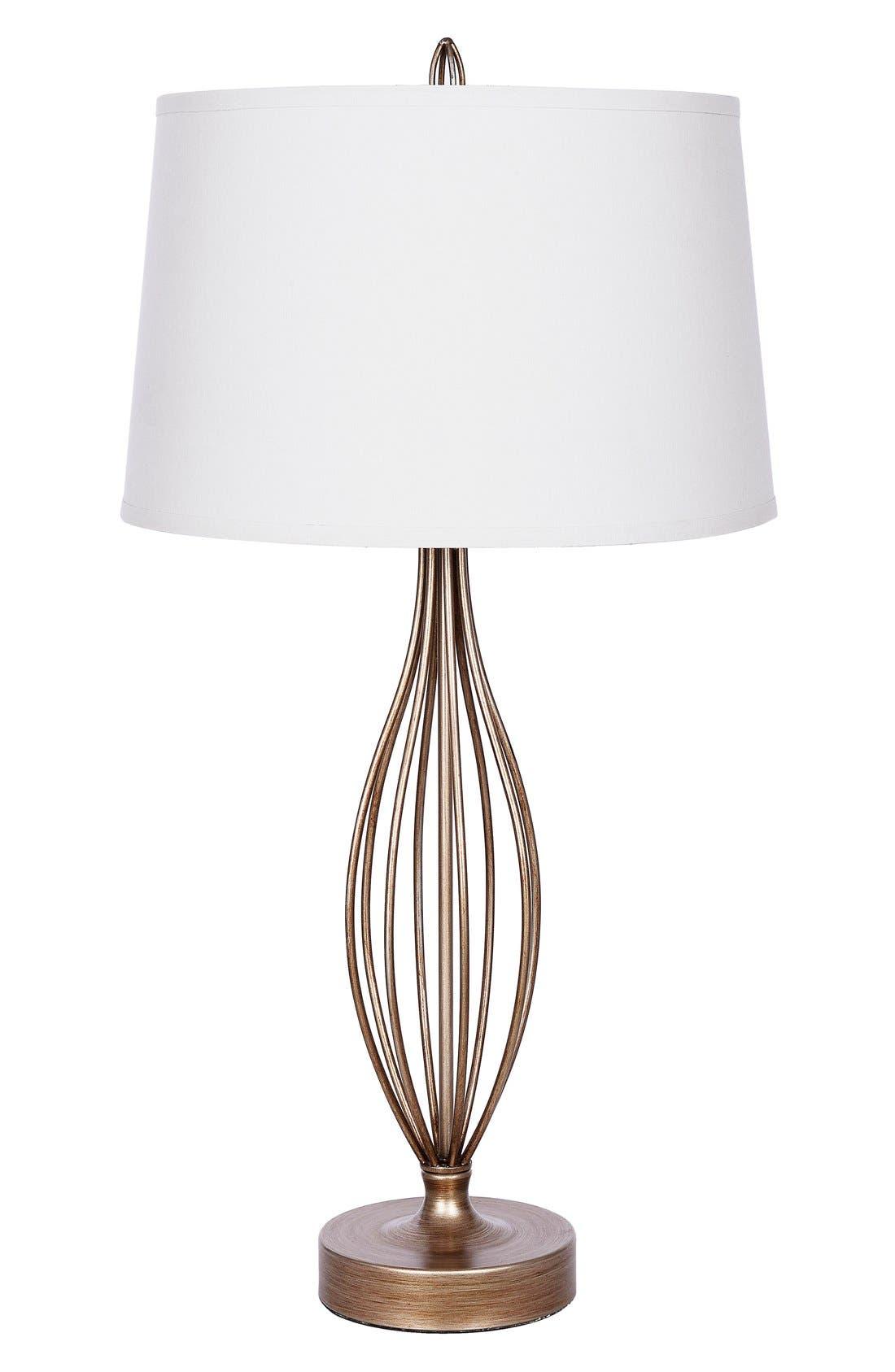 JAlexander Tessa Metal Table Lamp,                         Main,                         color, Silver