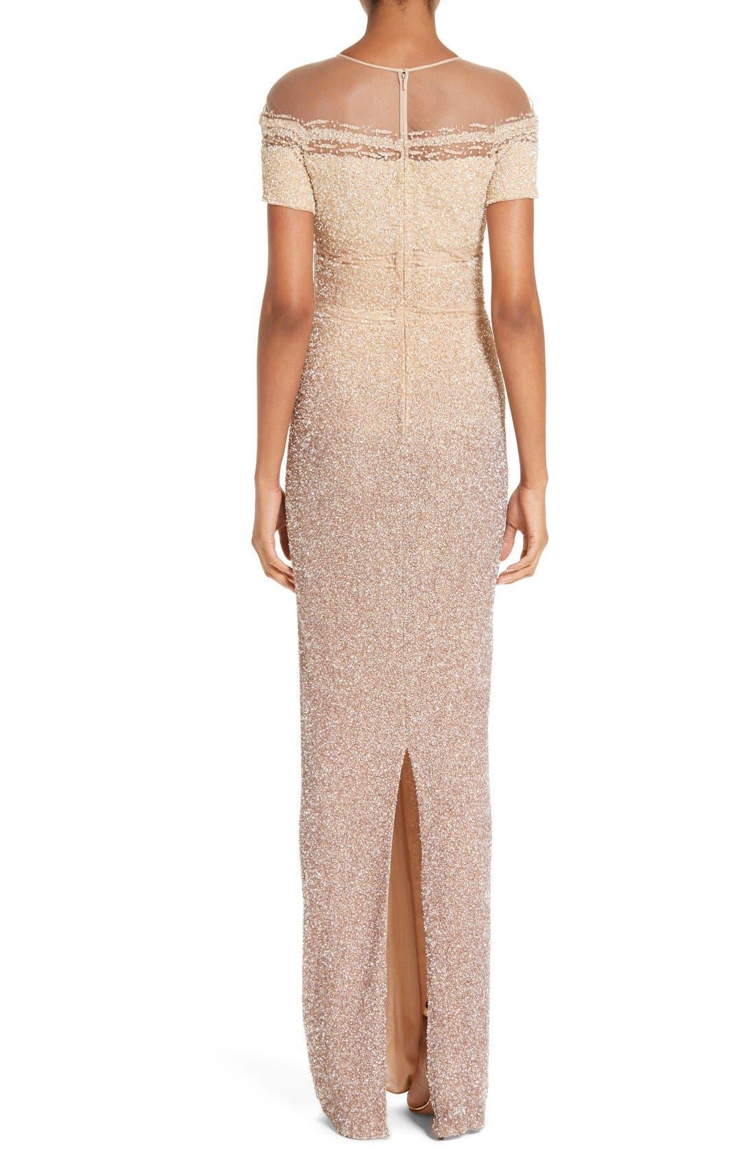 Alternate Image 2  - Pamella Roland Signature Sequin Column Gown